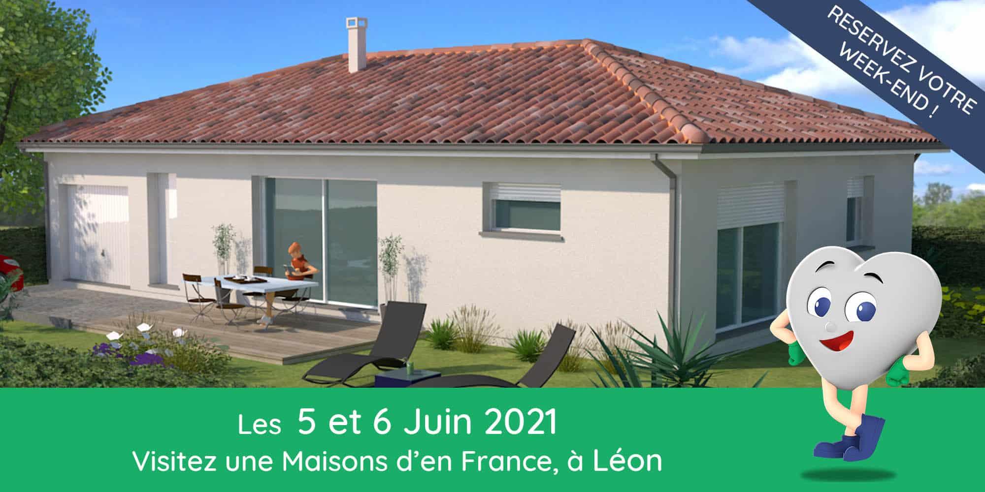 Maison neuve à Léon avec garage