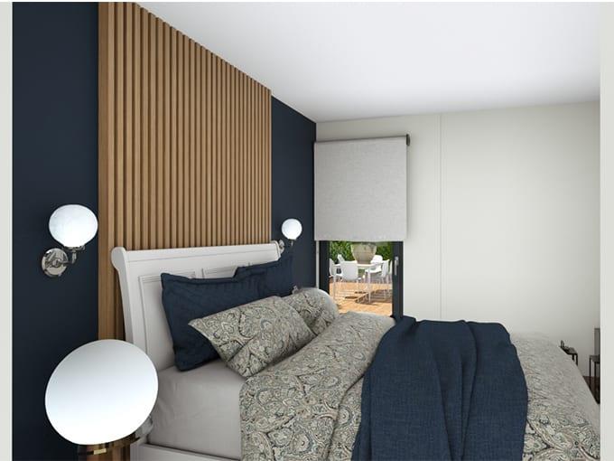 Chambre parentale avec tête de lit moderne