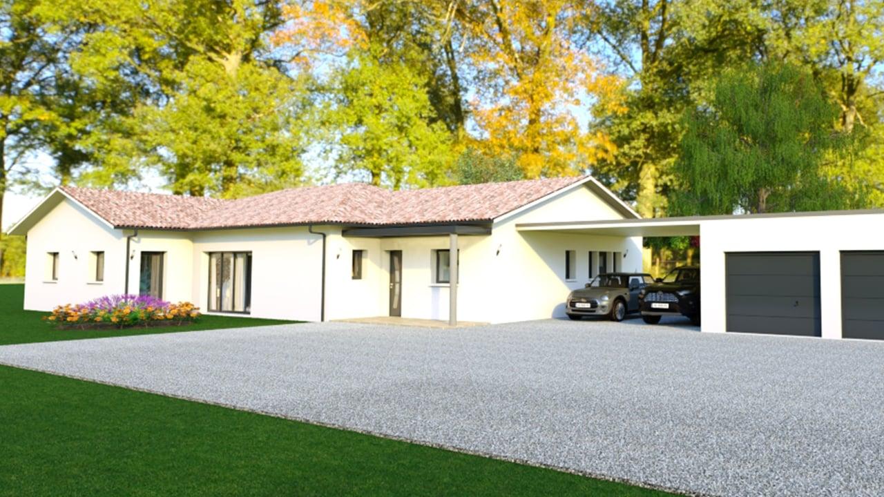Maison contemporaine avec double garage