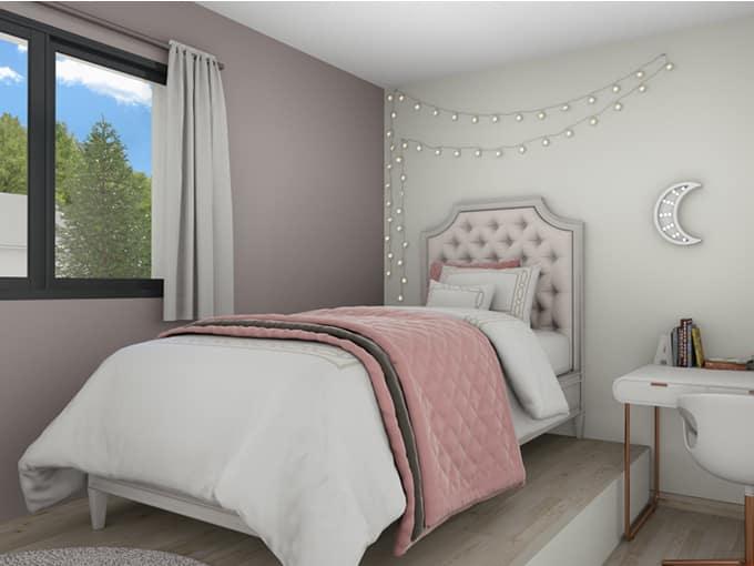 Chambre enfant avec lit et bureau