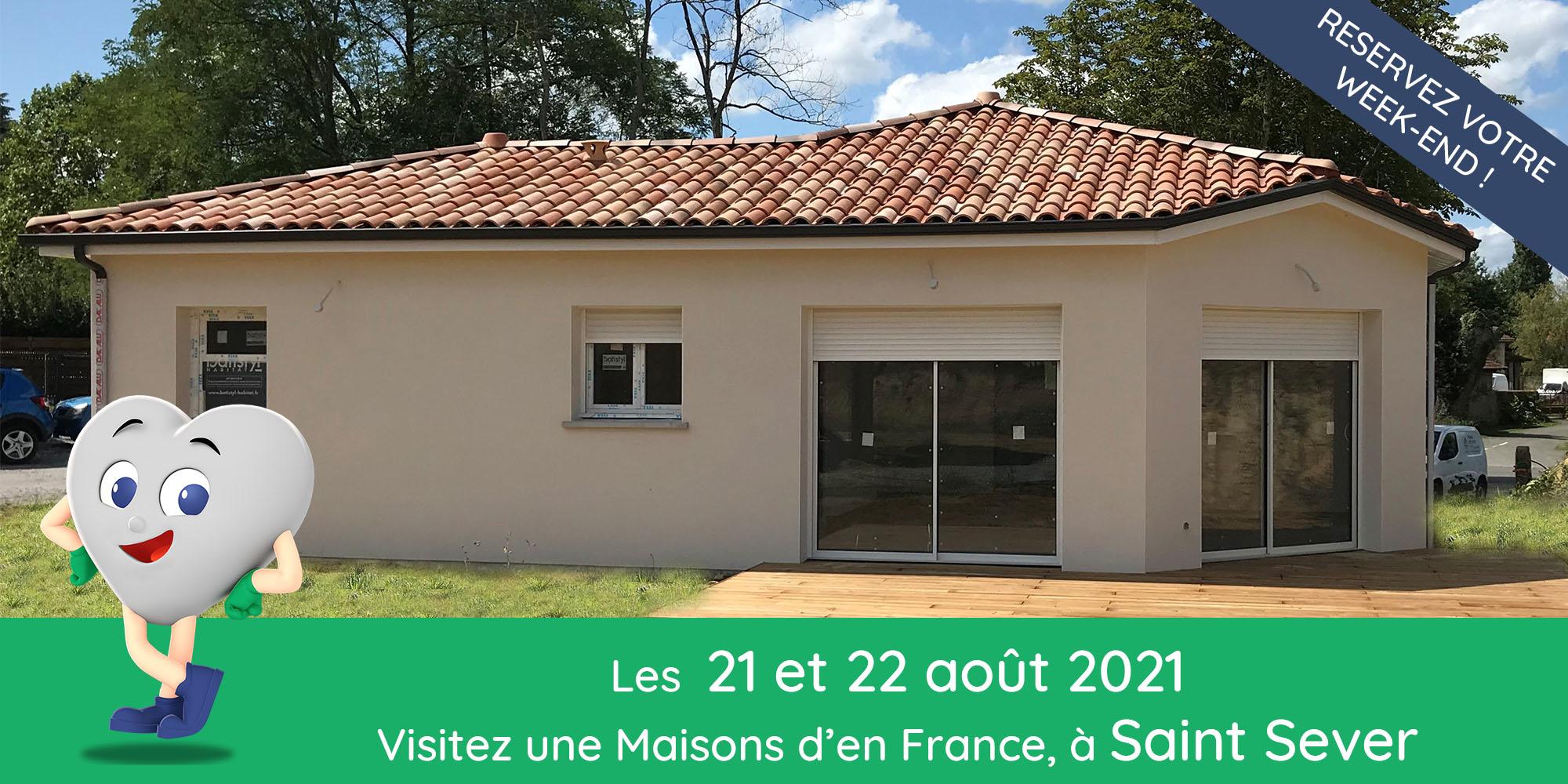 Maison avec terrasse bois et baie vitrée à Mont de Marsan