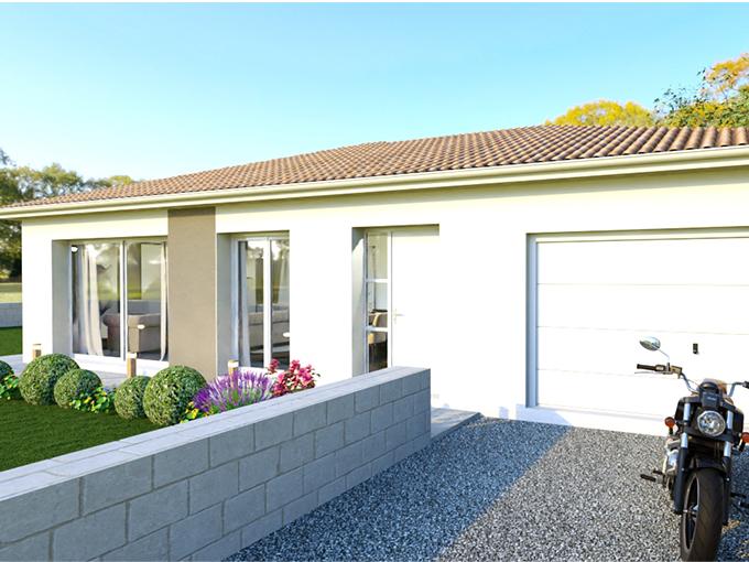Entrée d'une maison moderne avec garage intégré