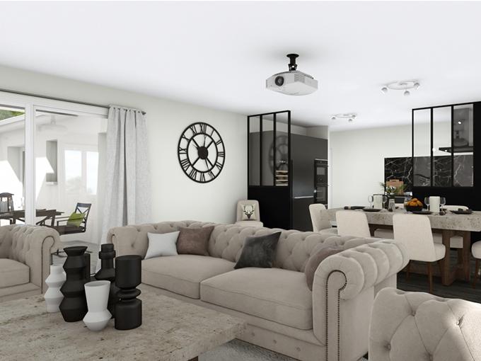 Salon classique d'une maison avec table basse