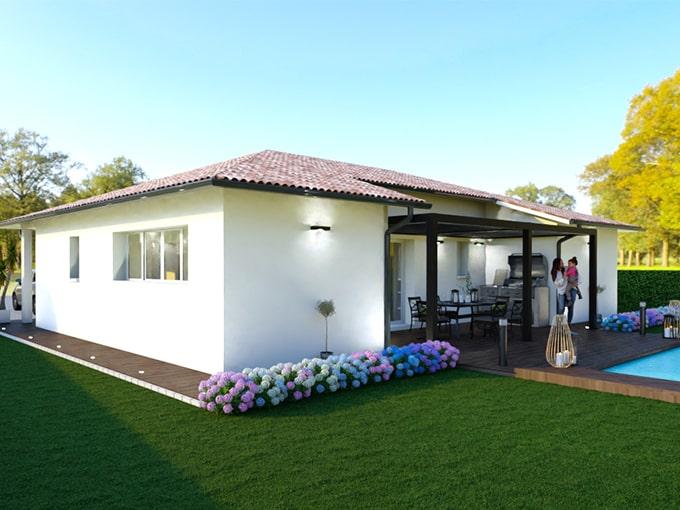 Maison moderne avec toiture originale