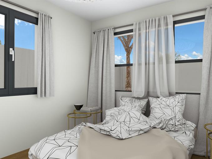 Chambre avec double exposition et deux fenêtres