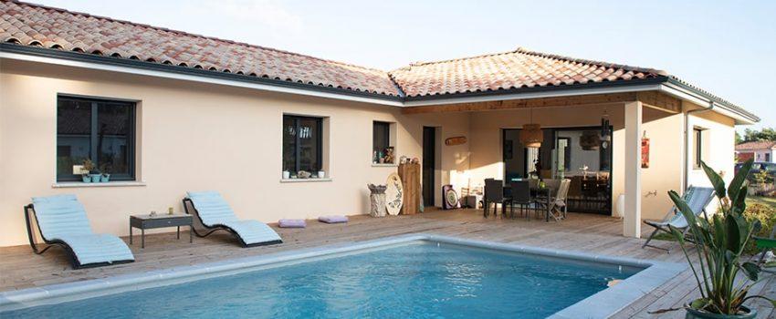 Maison neuve à Léon dans les Landes avec piscine